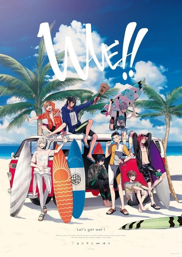 WAVE!! - Projeto de Surf será Jogo para Smartphone | WAVE!! - Anime de surf confirmado como Trilogia de Filmes