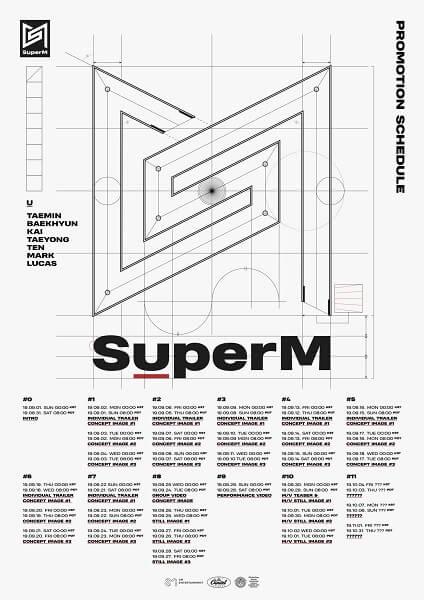 SuperM - SM revela Data de Estreia e Calendário de Teasers