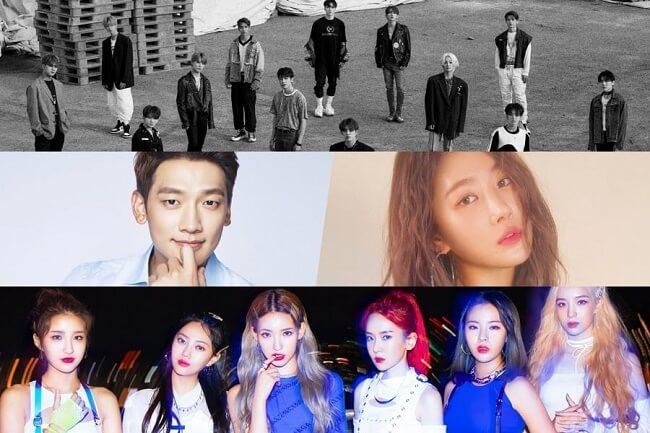 seventeen ans grupos que regressam em setembro 2019 kpop