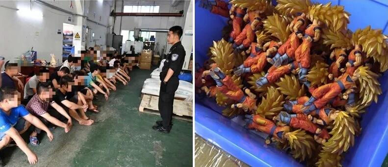 Apreendidos 1 Milhão de Figuras e Brinquedos Falsos na China 1