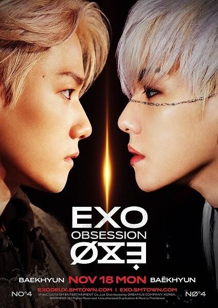 "EXO - Baekhyun em Teasers de ""Obsession"""