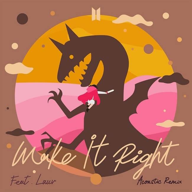 "BTS - Novo Remix de ""Make It Right"" com Lauv no topo do iTunes Top Songs"