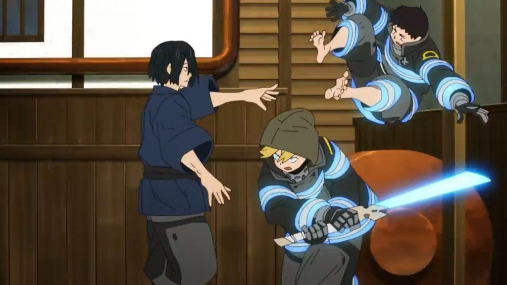 Enen no Shouboutai Episódio 18 - Beni vs Shinra x Arthur
