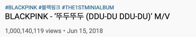 """BLACKPINK - """"DDU-DU DDU-DU"""" é 1º MV de um grupo a atingir Mil Milhões de Visualizações"""