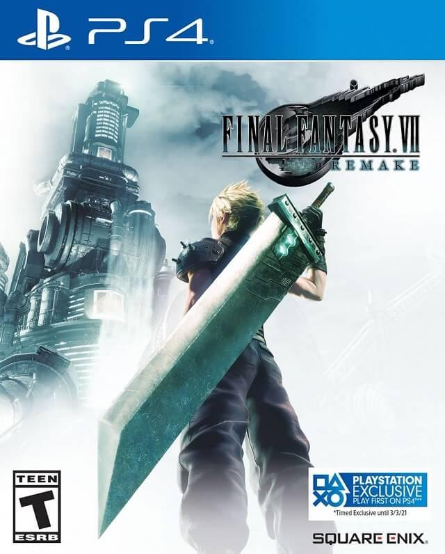 Final Fantasy VII Remake será exclusivo PlayStation até 2021 - Capa com sticker exclusivo PlayStation