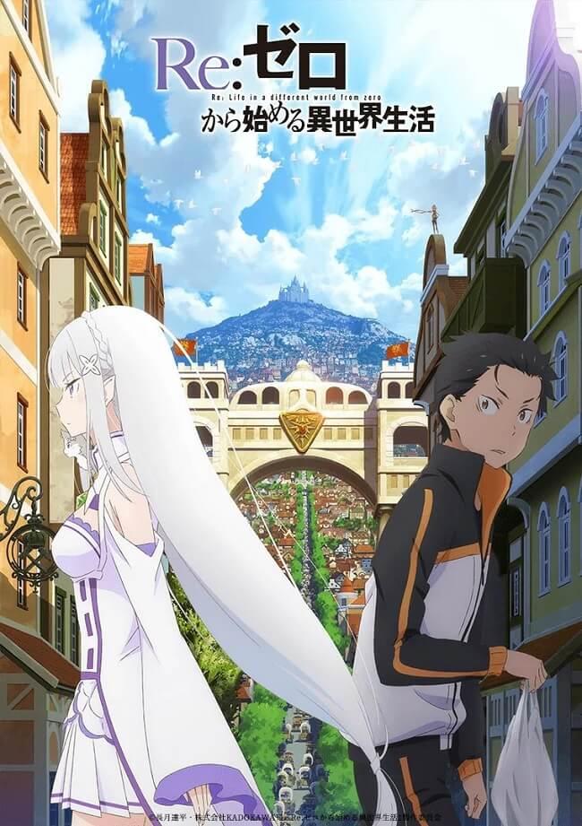 Re:Zero Anime - Segunda Temporada revela Estreia