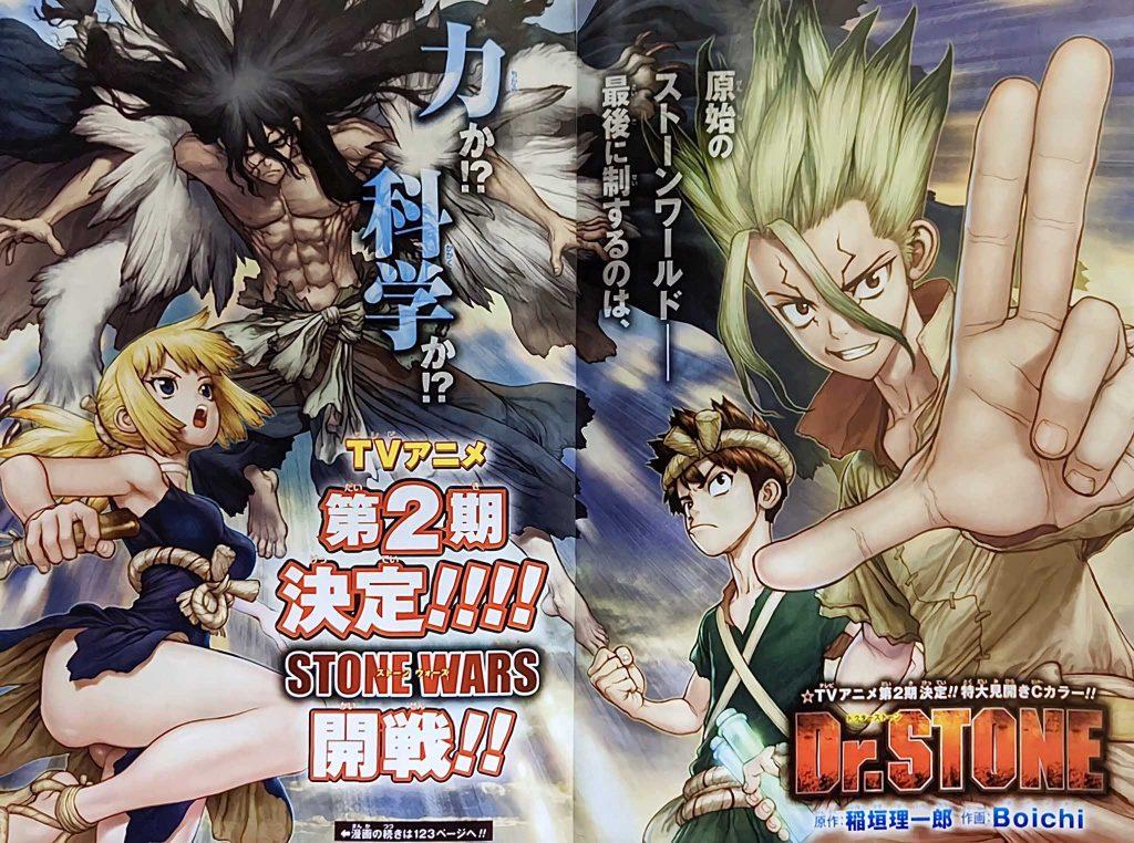 Dr. Stone - Anime recebe Segunda Temporada