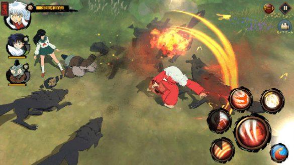Inuyasha jogo mobile gameplay