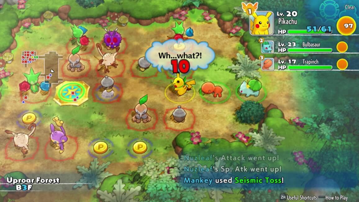 Pokémon Mystery Dungeon: Rescue Team DX - Pokémons a combater