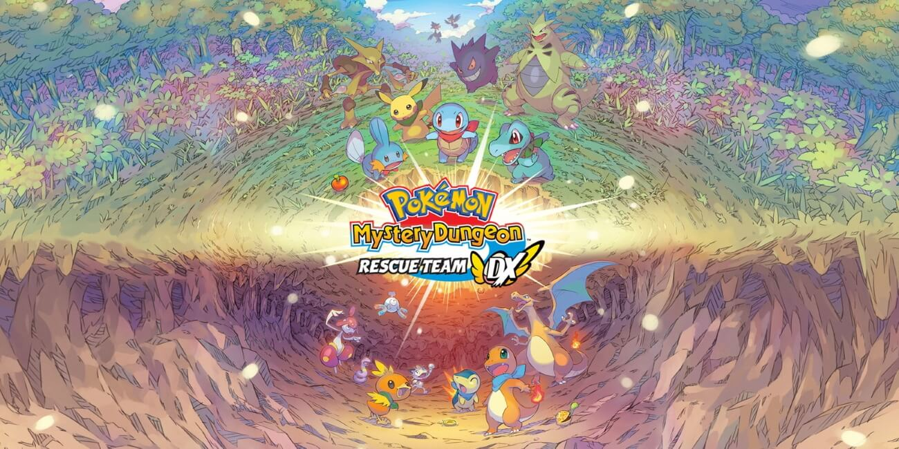Pokémon Mystery Dungeon: Rescue Team DX - Pokémons a olhar para logo