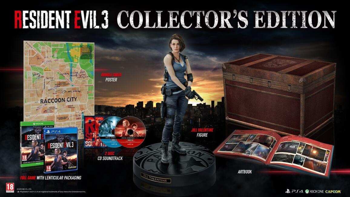 Resident Evil 3 – Conteúdo da Edição de Colecionador