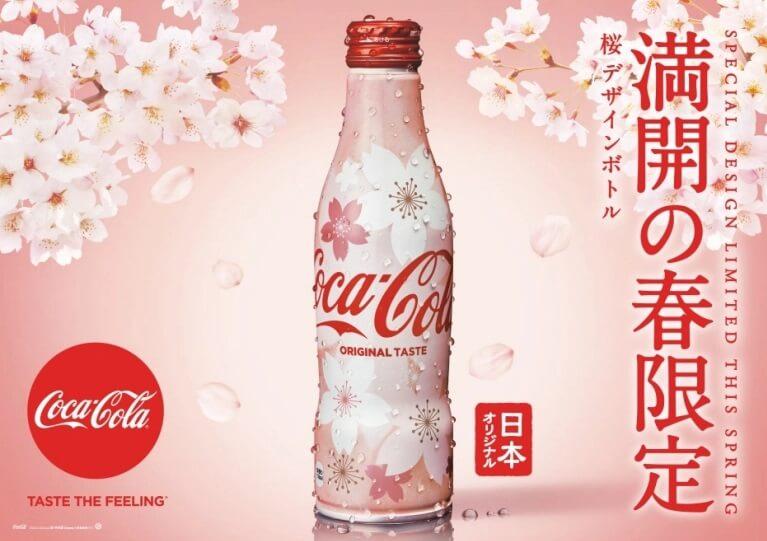 coca cola japao sakura garrafa design 2018