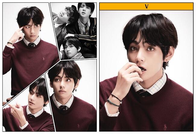 BTS - Estrelas de Banda Desenhada em Fotos de Conceito Top Membros de Boy Groups de Fevereiro 2020