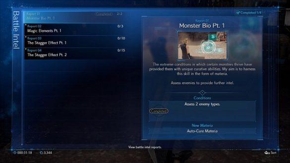Final Fantasy VII Remake Chadley Menus