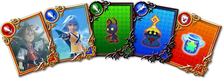 Kingdom Hearts Dark Road - Cartas do Jogo
