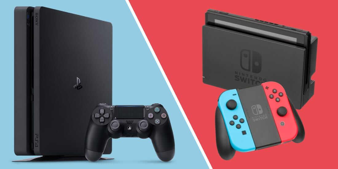 Nintendo Switch e PlayStation 4