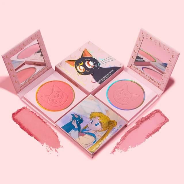 Blushes da Usagi e Luna na coleção da Sailor Moon