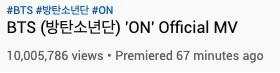 """BTS - """"ON"""" quebra Recorde ao atingir 10M de Views"""