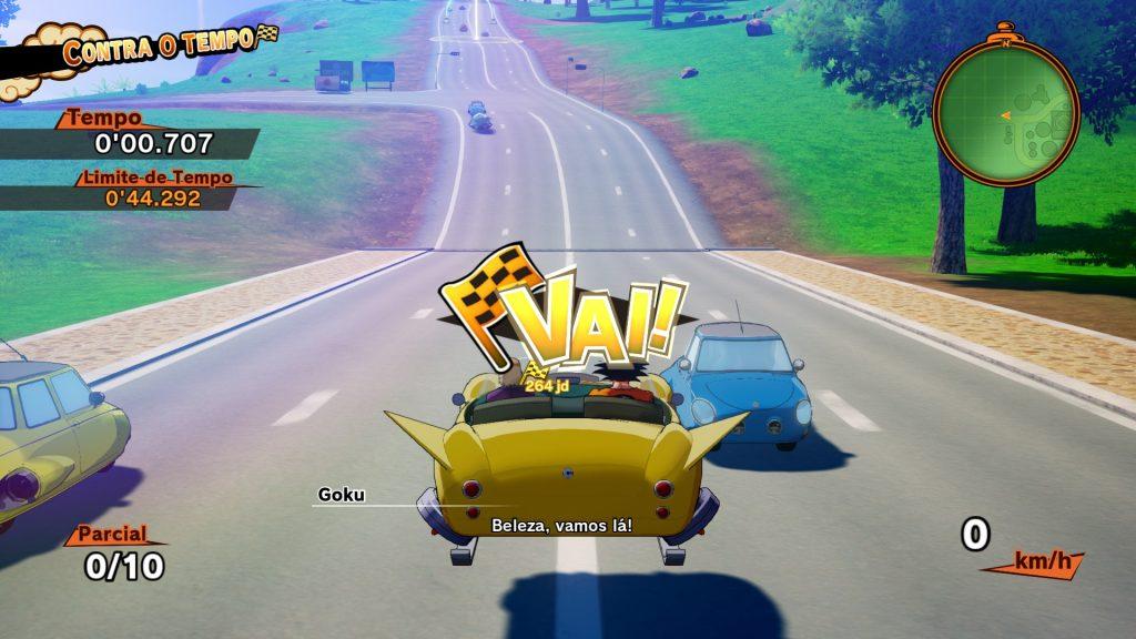 Videojogo bandai Dragon Ball Z: Kakarot - Pilotando carro