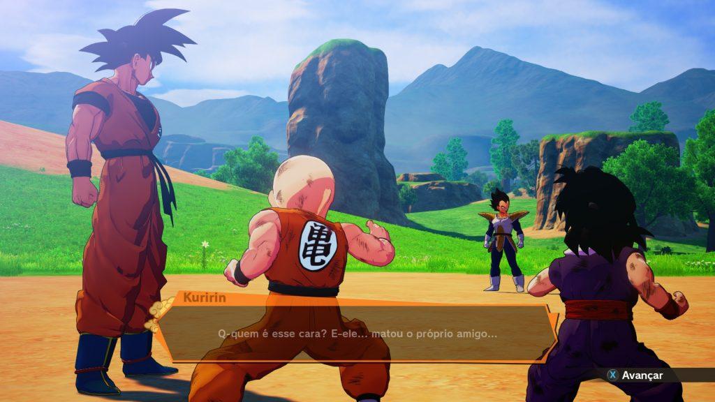 Jogo Dragon Ball Z Kakarot vs Vegeta