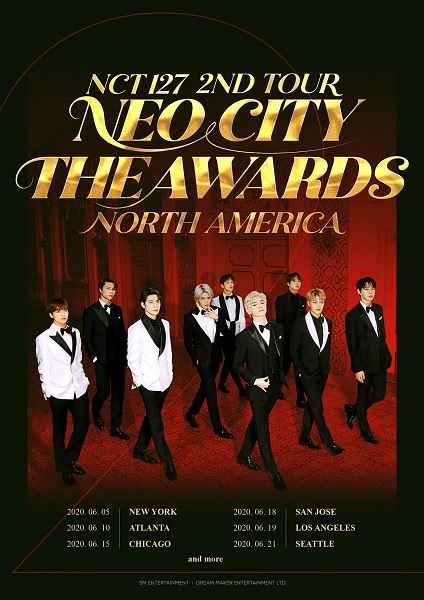 NCT 127 anunciam Paragens na sua Tour Norte Americana