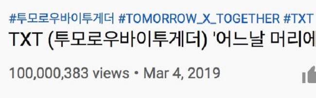 """TXT - """"Crown"""" é o MV de Estreia de BG mais Rápido a passar 100M"""