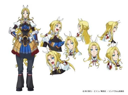 Monster Musume no Oisha-san poster Tisaria Scudia personagem