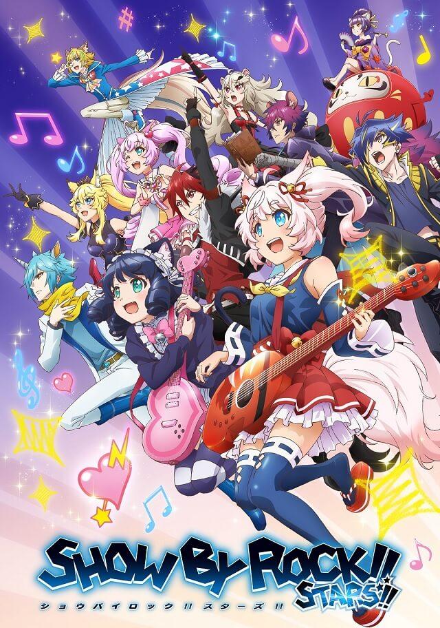 Show By Rock!! Stars!! - Anime revela Novo Teaser e Estreia