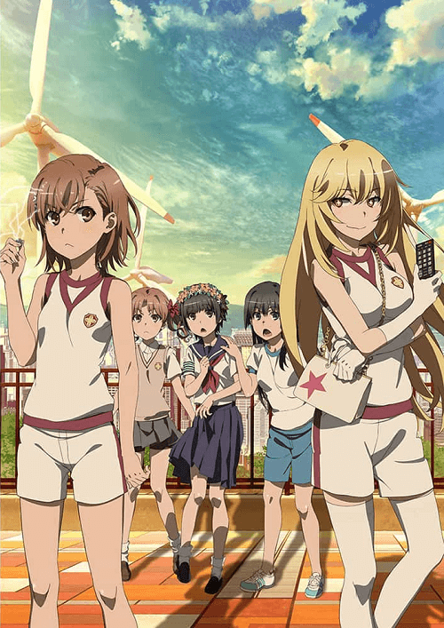 Toaru Kagaku no Railgun T anime season 3 visual poster clean version