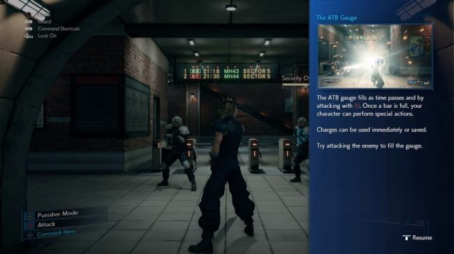 ATB Gauge Final Fantasy VII Remake