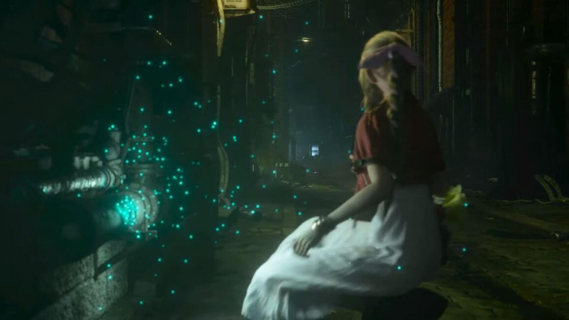 Aerith assustada Final Fantasy VII Remake