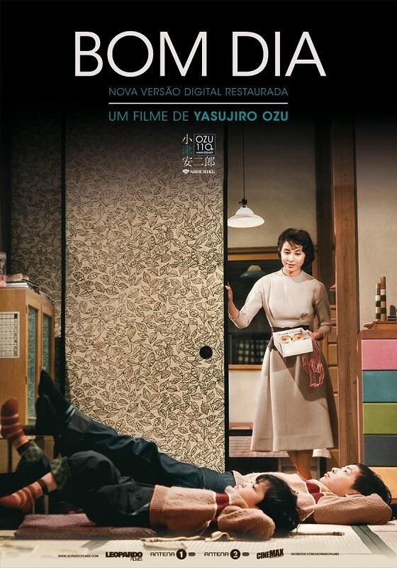 Bomdia_Ohayô Yasujiro Ozu Akibiyori filme japones poster oficial Cinema Japonês em Casa pela Medeia Filmes - Maio 2020
