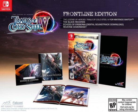 The Legend of Heroes: Trails of Cold Steel IV Switch Frontline Edition
