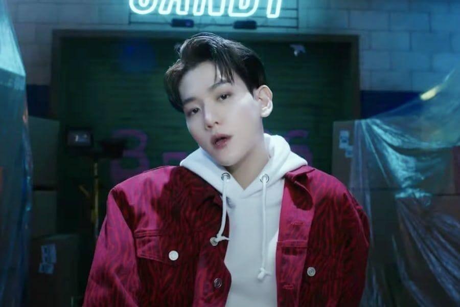 """Baekhyun regressa a solo com MV para """"Candy"""" Baekhyun no topo do iTunes com """"Delight"""""""
