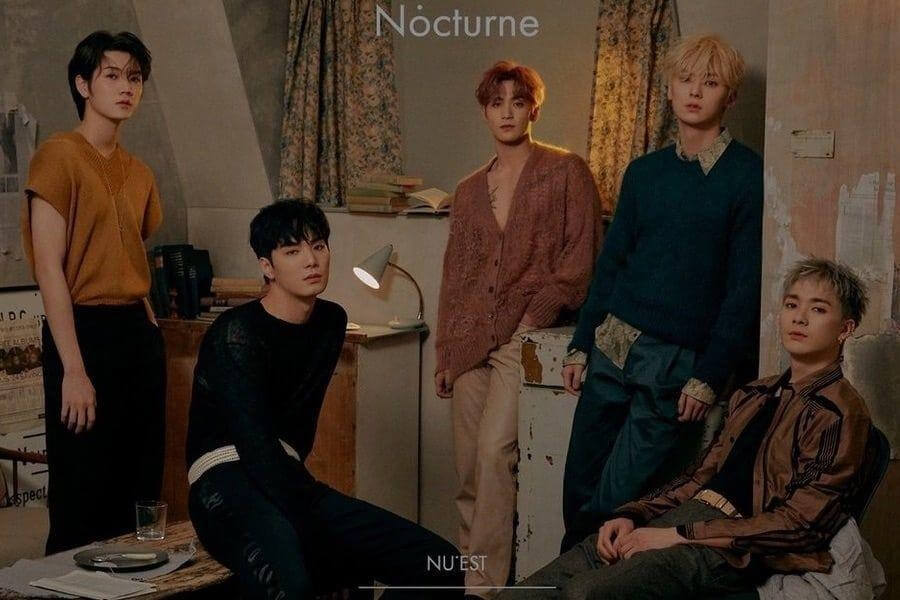 "NU'EST no topo do iTunes com ""The Nocturne"""