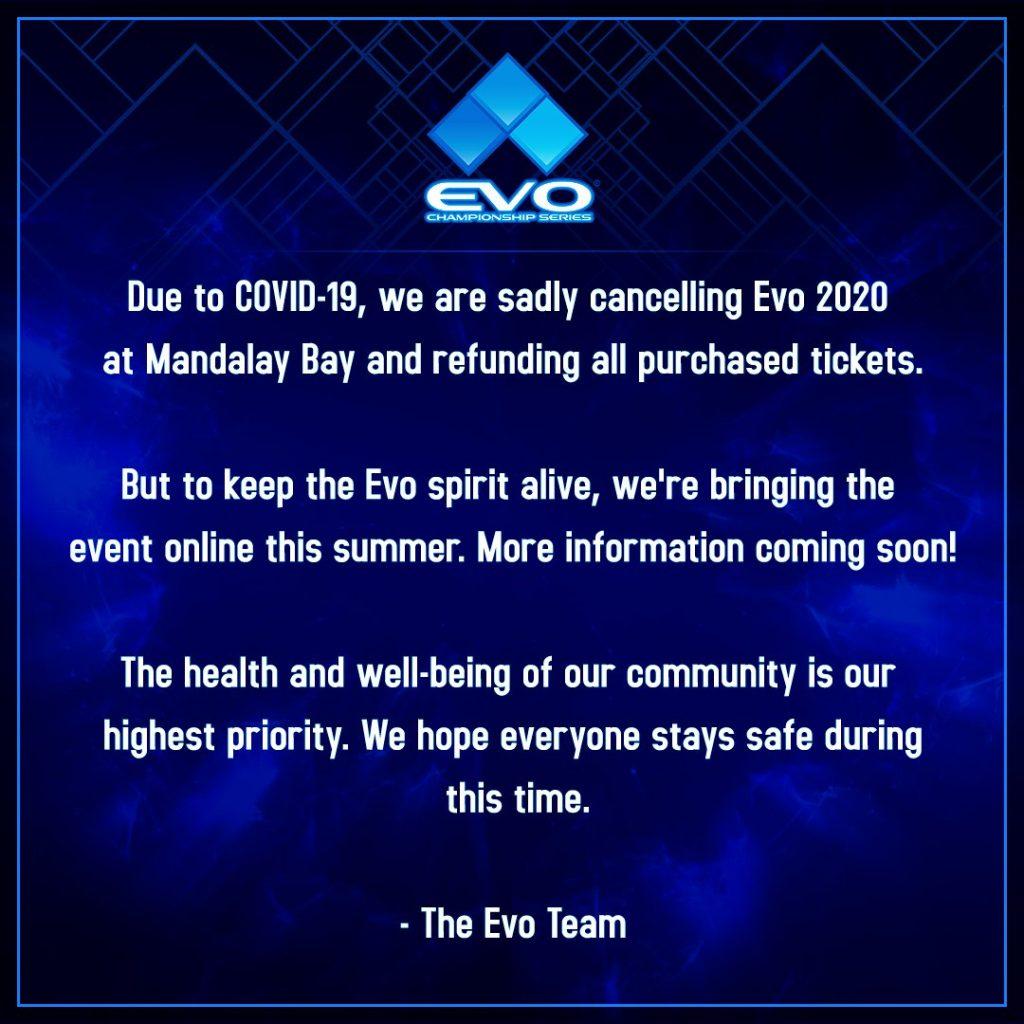 Torneio de jogos de Luta EVO 2020 Vai Ser Disputado Online
