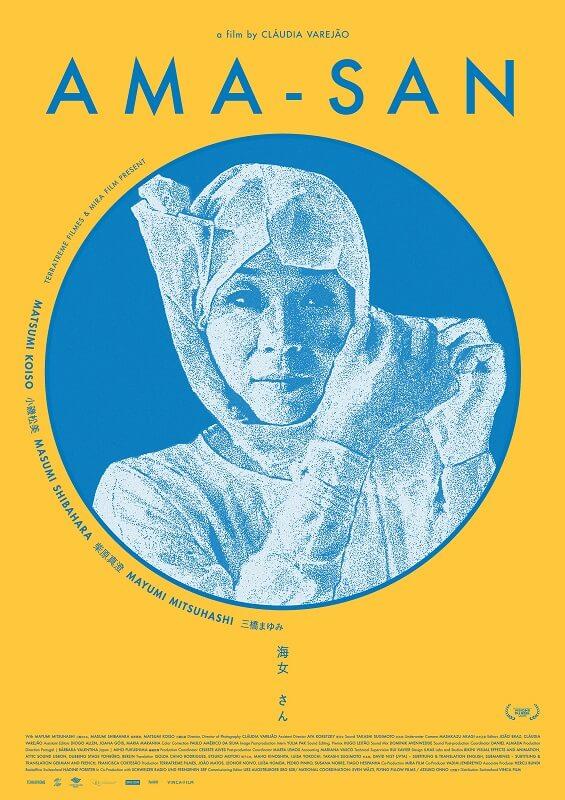 Ama-San poster oficial japones filme claudia varejao Ama-San em exibição no Café Viriato