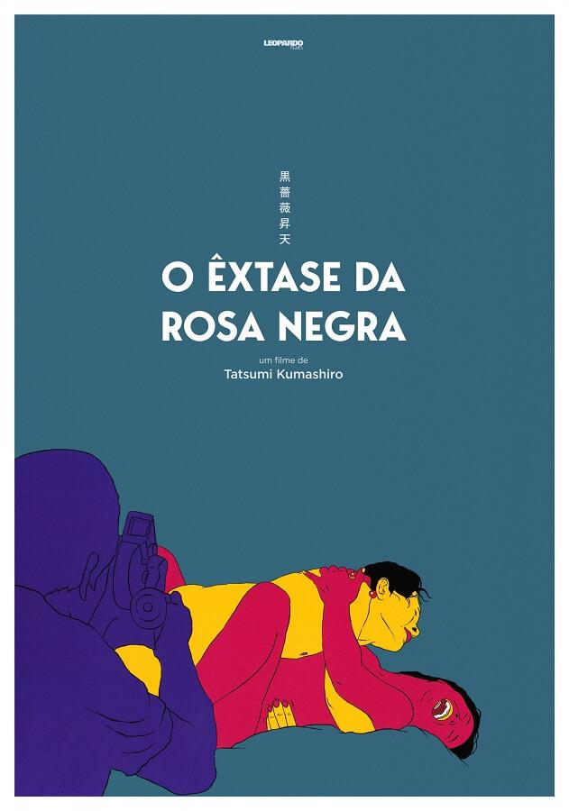 O Êxtase da Rosa Negra poster oficial roman porno cinema japones tatsumi kumashiro Ciclo Roman Porno disponível na Filmin Portugal