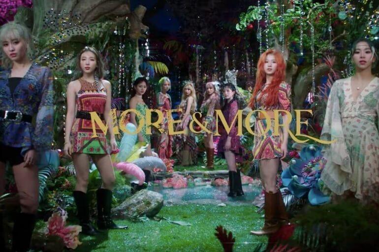 """TWICE regressam com MV para MORE & MORE TWICE estreiam na Billboard 200 com """"MORE & MORE"""""""