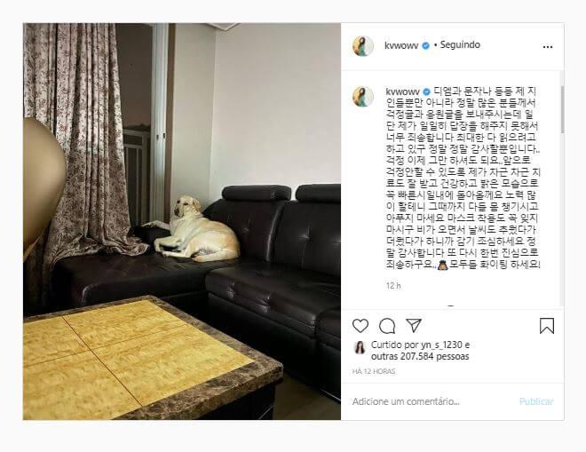 AOA - Mina partilha mensagem positiva no instagram