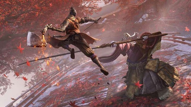 Wolf contra Corrupted Monk Sekiro Shadows Die Twice