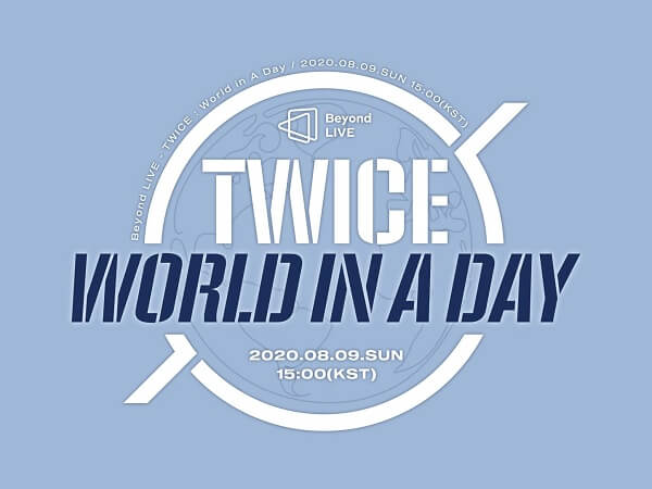 "TWICE anunciam Concerto Online ""World In A Day"""