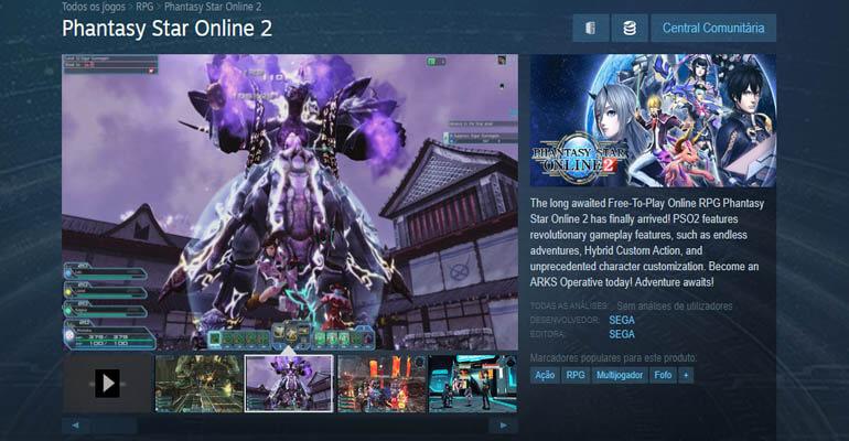 Phantasy Star Online 2 - Jogo Chega ao Steam em Breve