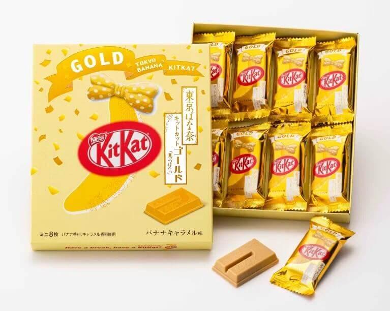 tokyo banana e kitkat gold version 2019 imagem promocional