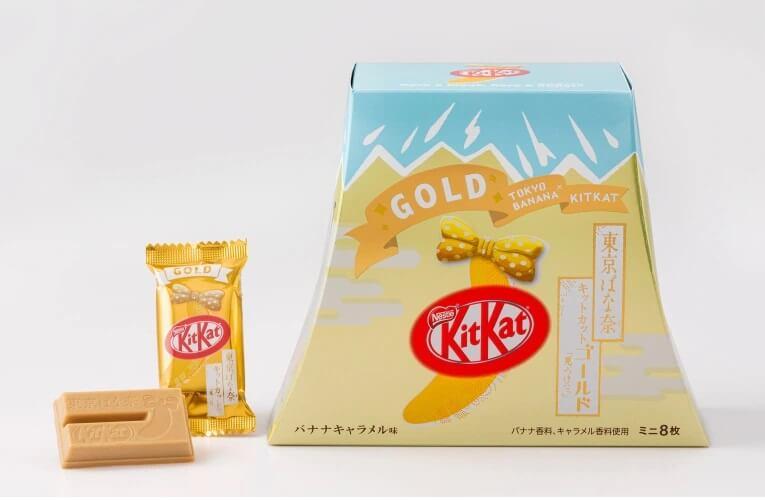 tokyo banana e kitkat gold version 2020 imagem promocional