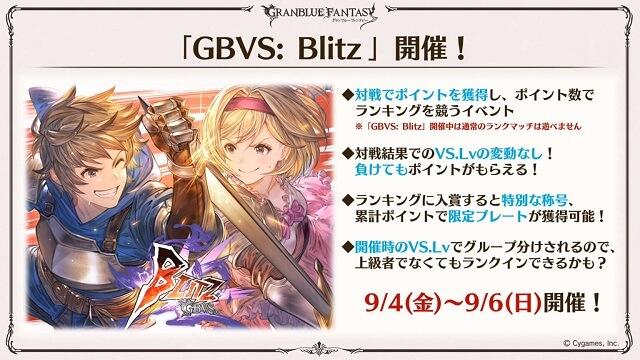 GBVS: Blitz evento conteúdo