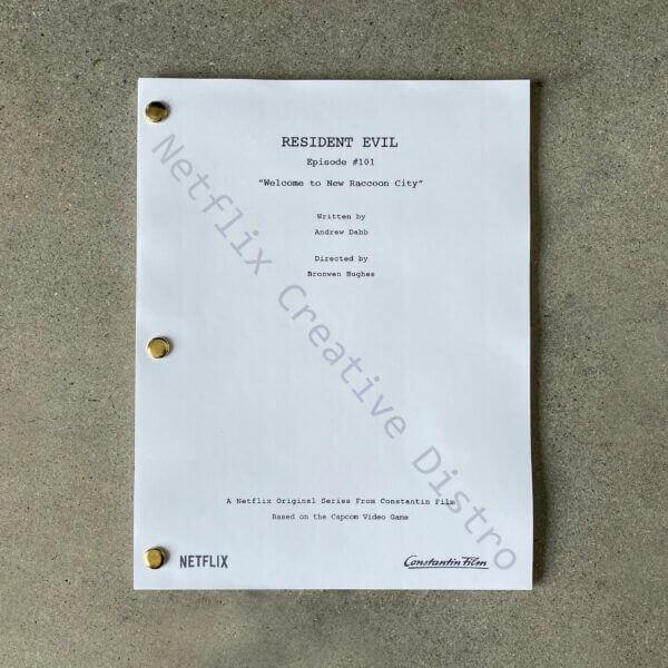 Resident Evil Série Netflix Script