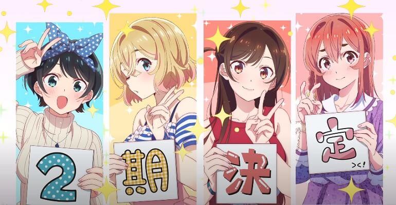Kanojo Okarishimasu - Anime terá 2.ª Temporada | Kanojo Okarishimasu - 2ª Temporada apenas em 2022