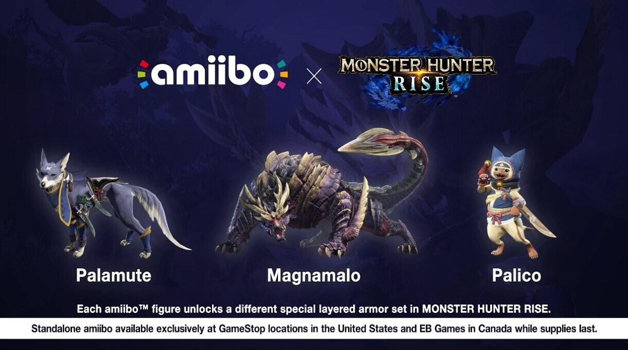 Amiibos de Monster Hunter Rise