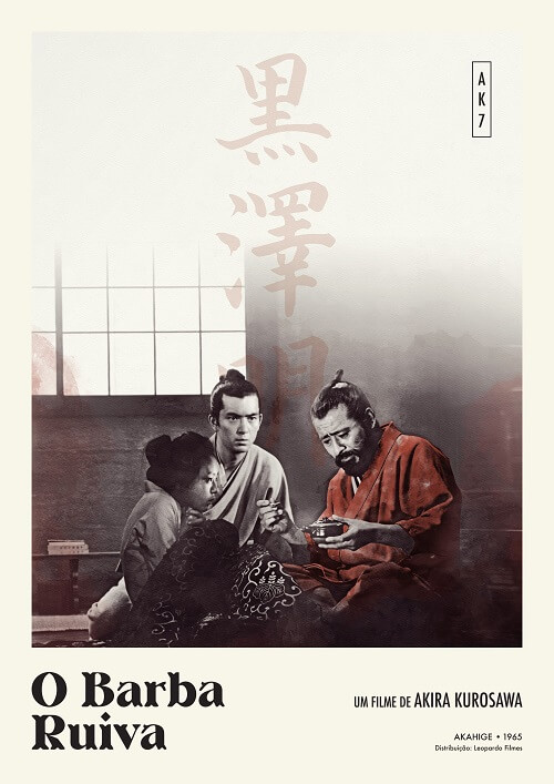 akira kurosawa_filmes o barba ruiva poster oficial
